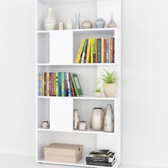 Стеллаж книжный белый напольный