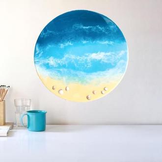 Картина эпоксидной смолой море Resin art