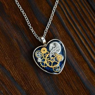 Кулон сердце в стилях steampunk и clockpunk (под заказ Киев лето 2020)