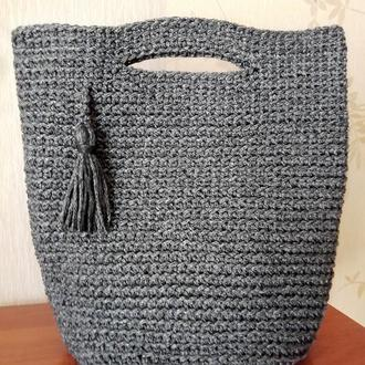 Сумка, шоппер, торба вязаная крючком