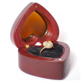 "Футляр шкатулка для кольца ""ReD LOVE"", коробочка для обручального кольца."