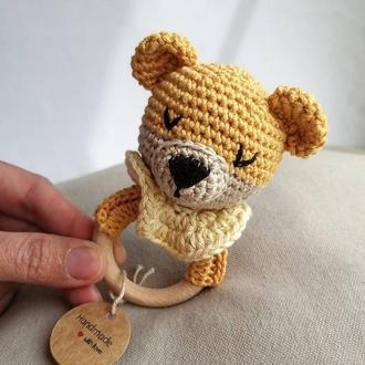 Погремушка Медвежонок на колечке