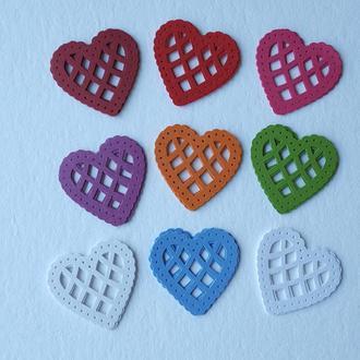 Сердечки (декор для скрапбукинга)
