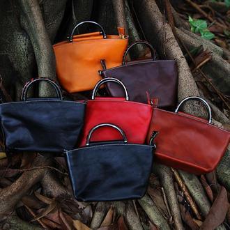 Интимная и страстная сумка ручной работы из мягкой кожи ручной покраски
