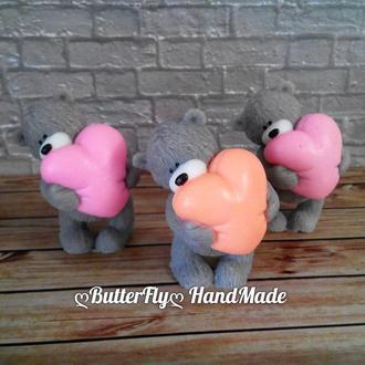 """""""Мишка с сердце"""" Мыло"""