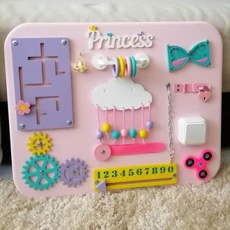Бізіборд для дівчинки, бизиборд, розовый бизиборд, бизиборд для девочки