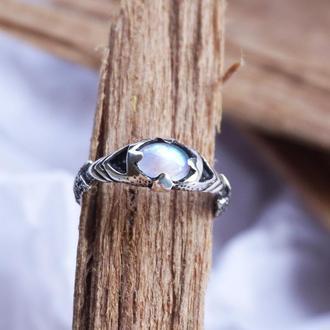 """Серебряное кольцо с лунным камнем """"ARGO"""""""