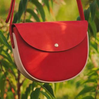 REA Red - сумка из натуральной кожи и дерева