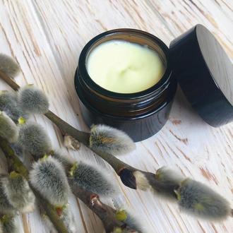 Натуральный крем для лица с маслом розмарина и герани для комбинированной кожи