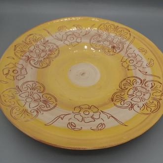 Керамическая тарелка- блюдо.