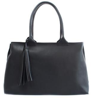 Женская кожаная сумка с двумя ручками. 07011/черный