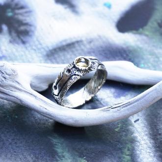 """Мужское серебряное кольцо с Цитрином """"GLOW"""""""