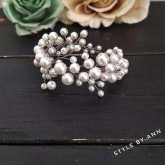 Браслет для невесты с жемчугом