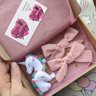 Подарок для девочки, заколки, резинки, подарок ребенку