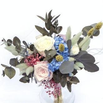 """Букет из стабилизированных цветов """"Garden flowers"""""""