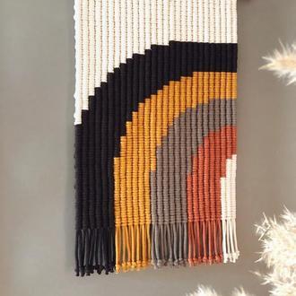 Макраме Панно-радуга на стену ручной работы