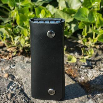 Кожаная ключница long (black)