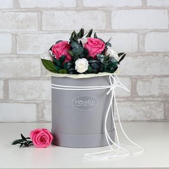 """Букет """"Особый случай"""" из живых стабилизированных долгосвежих роз, размер L"""