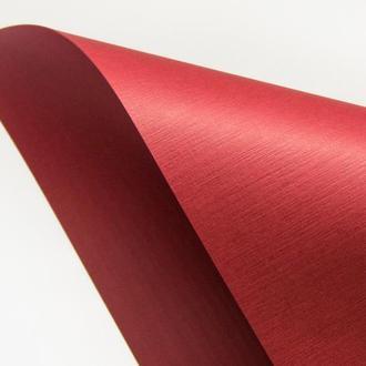 Цветной односторонний картон с фактурой лен