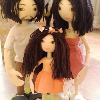 """Авторские куклы """"Семья"""""""