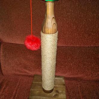 Когтеточка для котов из натурального дерева