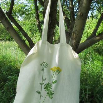 Эко сумка для покупок льняная