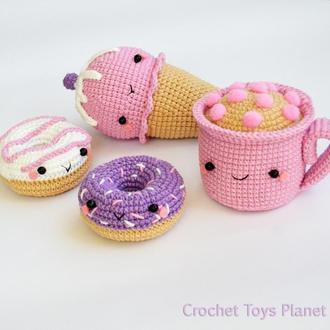 Набор вязаных сладостей (4 предмета)