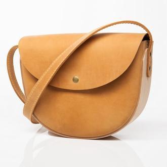 REA Camel - сумка из натуральной кожи и дерева
