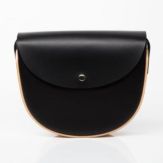 REA Black SP - сумка из натуральной кожи и дерева