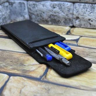 Пенал кожаный для ручек R01-0
