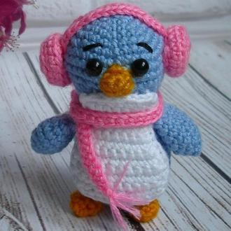 🍓 Пингвин вязаный крючком. Пингвинчик мягкая игрушка. Пингвин брелок.