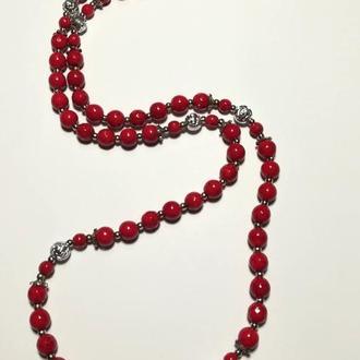 Бусы из Коралла цвет красный и его оттенки, тм Satori \ Sk - 0014