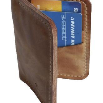 Маленький кожаный бумажник жёлтого цвета х1 (10 цветов)