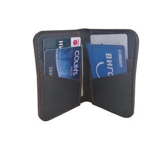 Маленький кожаный бумажник коричневого цвета х1 (10 цветов)