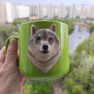 Чашка с волком