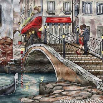"""Схема для вышивки крестом """"Свидание в Венеции"""""""