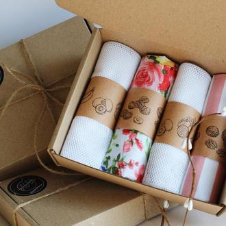 Набор екомішечків цветы - 4 штуки Киев, подарок маме Киев, экомешочки для фруктов цветы Одесса