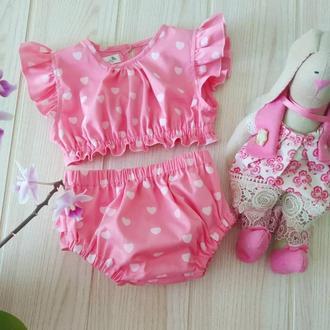 Летний комплект блуза и блумеры