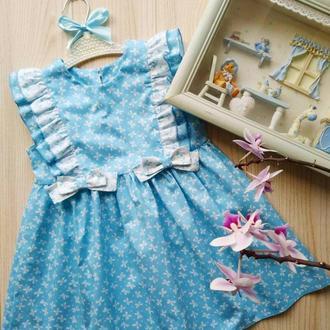 Хлопковое платье сарафан для девочке