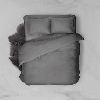 Комплект постільної білизни з льону сірого кольору, Постіль з льону сірого кольору, Сіра постіль