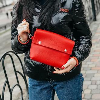 Нагрудная сумка Slim красная