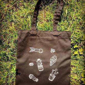 Eco сумка шопер с росписью|Эко сумка хлопок