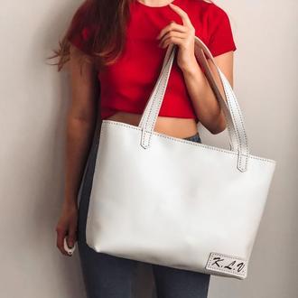 ORSI-Кожаная женская сумка шоппер, кожаная сумка большая
