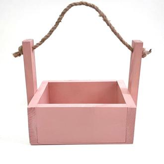 Ящик деревянный. Декоративный ящик. Кашпо для цветов