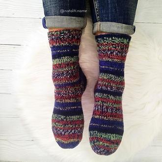 Вязаные носки Navy blue