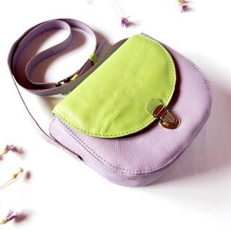 Кожаная сумка «Дыхание весны»