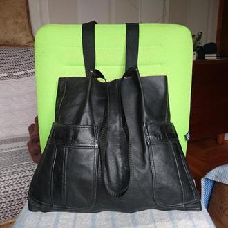 Кожаная сумка_recycled bag