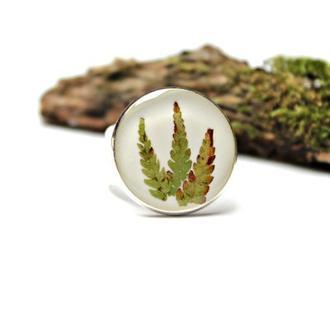 Кольцо с папоротником