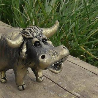 Статуетка бичка керамічний бик