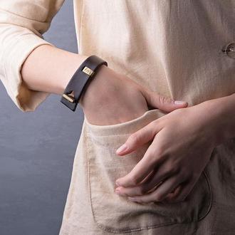 Кожаный браслет LUY N.3 один оборот (коричневый)